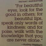 Says Audrey Hepburn…