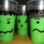 Frankenstein Pudding Cups–Easy #Halloween Treat