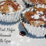French Toast Muffins Smothered with Homemade Vanilla Syrup