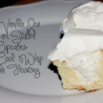 Very Vanilla Ice Cream Stuffed Cupcakes with Cool Whip Frosting
