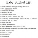 Our Baby3 Bucket List