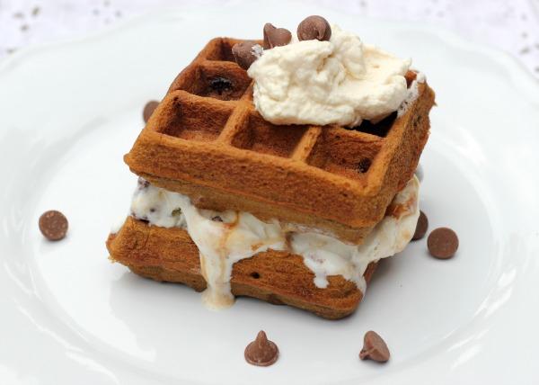 Ice Cream Coffee Waffle Sandwiches