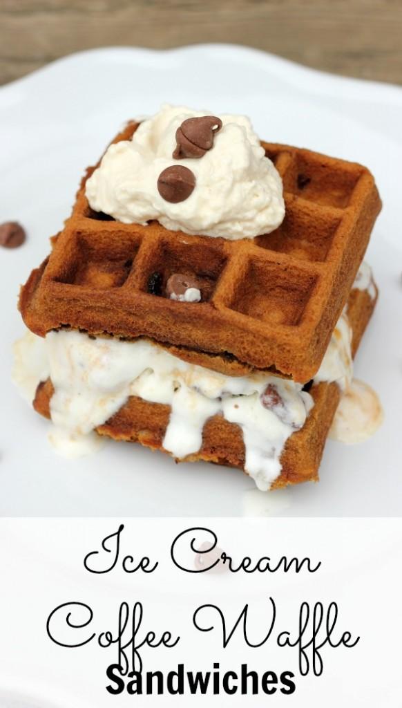 Ice Cream Coffee Waffle Sandwiches Pinterest