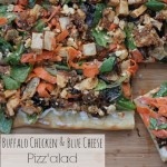 Buffalo Chicken & Blue Cheese Pizz'alad