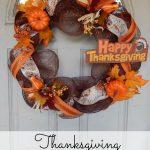 Thanksgiving Deco Mesh Wreath Tutorial