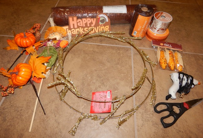 Thanksgiving wreath supplies