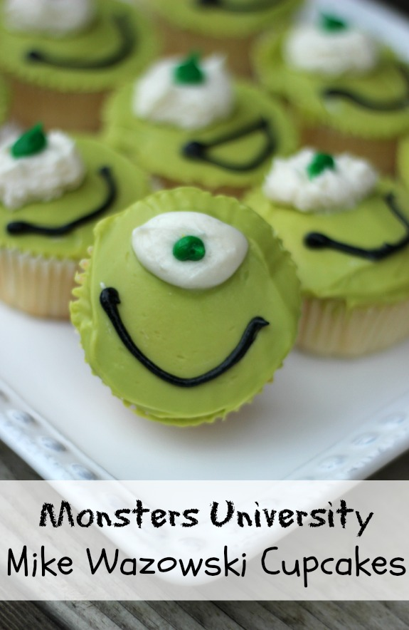 Monsters University Mike Wozowski Cupcakes