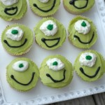 Monsters University Mike Wazowski Cupcakes #MonstersU