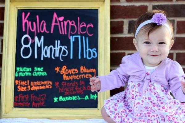 Kyla 8 Months Smiles