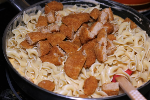 Chik'n Nuggets Noodle Casserole 3