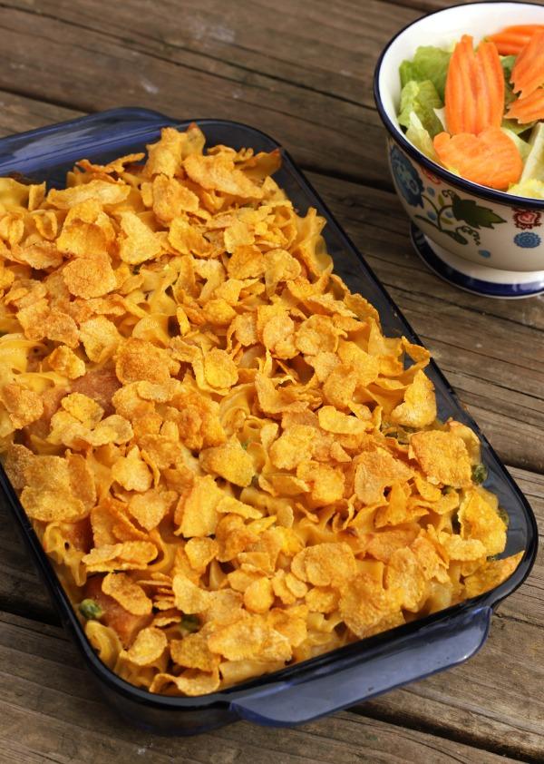 Kellogg's Corn Flakes® Chicken Casserole #GreatStarts