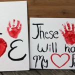 Valentine's Day Handprint & Footprint Art