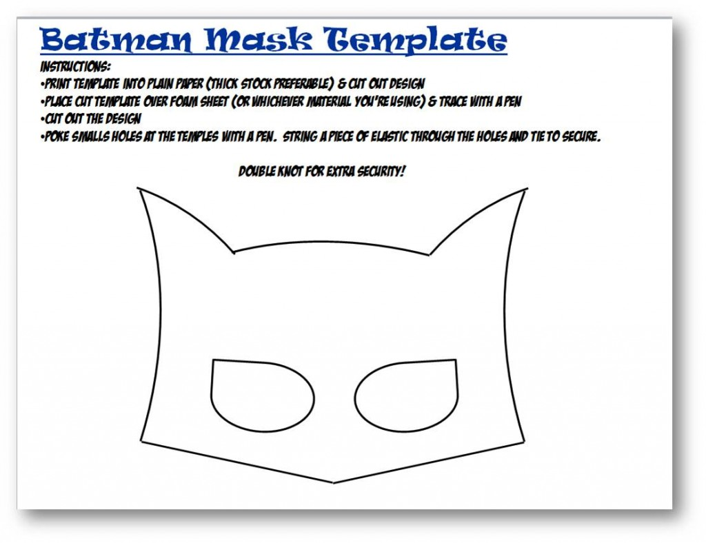 Batwoman mask template - photo#12