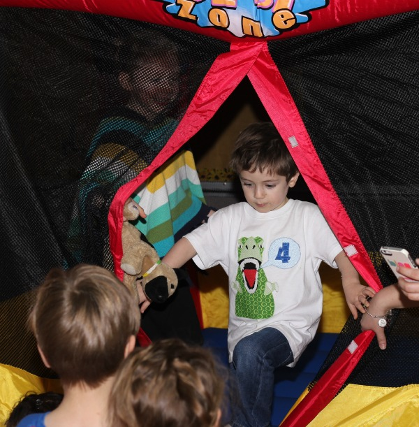 bounce house at the party