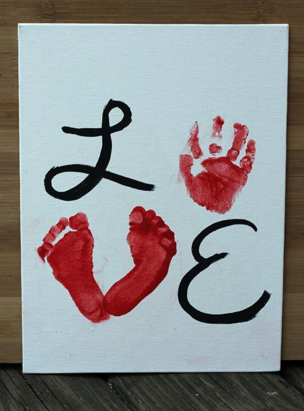 handprint Valentines day