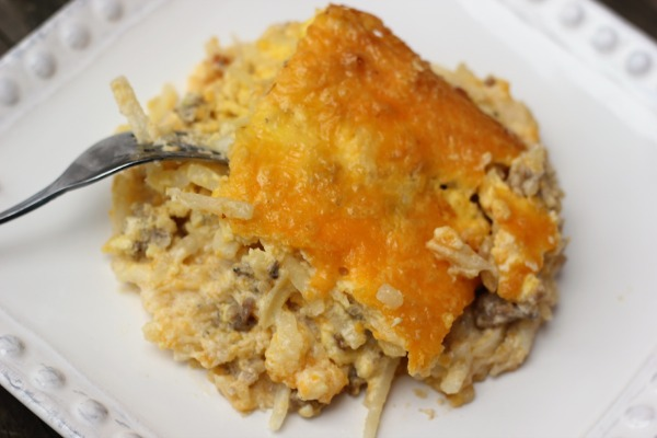 Creamy Hash Brown Casserole with The Works