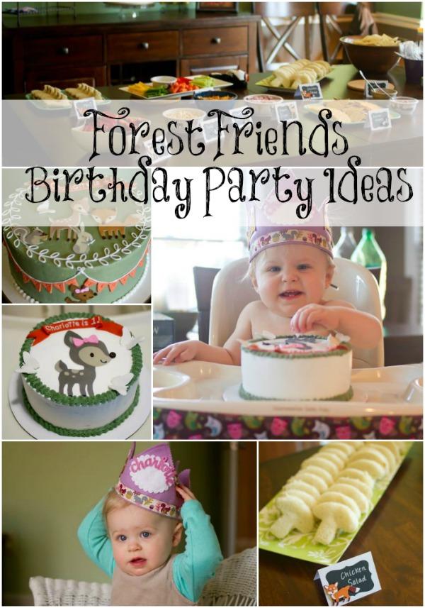 Forest Friends Birthday Party Little Us