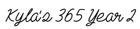 Kyla 365 Second Year