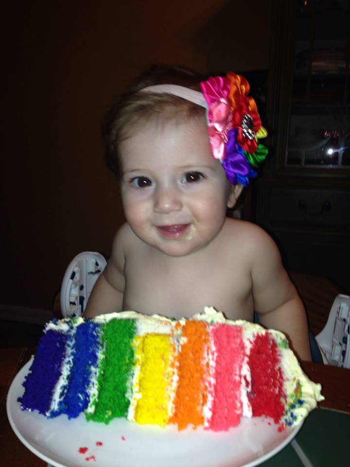 Kyla with her Cake