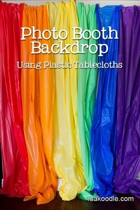 rainbow photo booth
