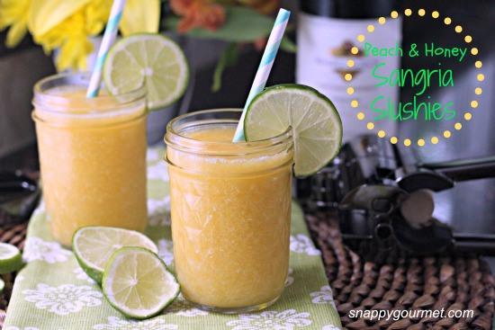 Peach and Honey Sangria Slushies
