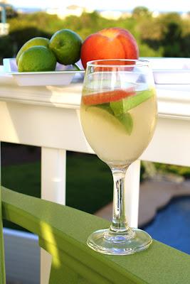 Peach and Lime White Wine Sangria