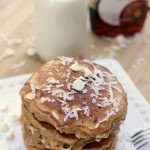 White Chocolate Chip Coconut Maple Pancakes