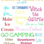 Summer Bucket List {Printable}