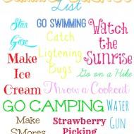 Summer Bucket List {Printable}