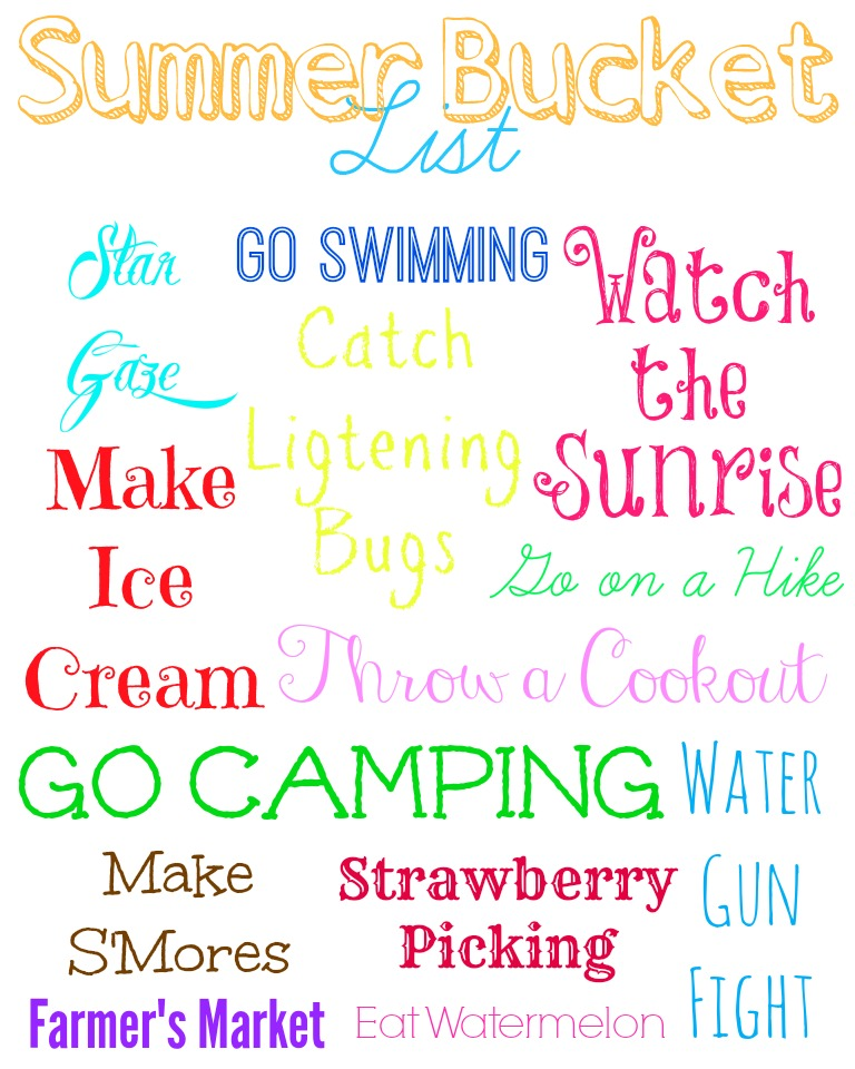Summer Bucket List Little Us