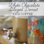 White Chocolate Glazed Donut Iced Coffee #Recipe #DunkinAtHome