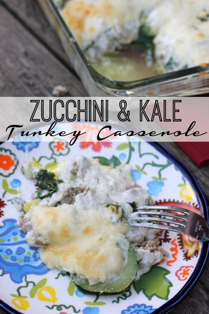 yummy Zucchini and kale Turkey Casserole