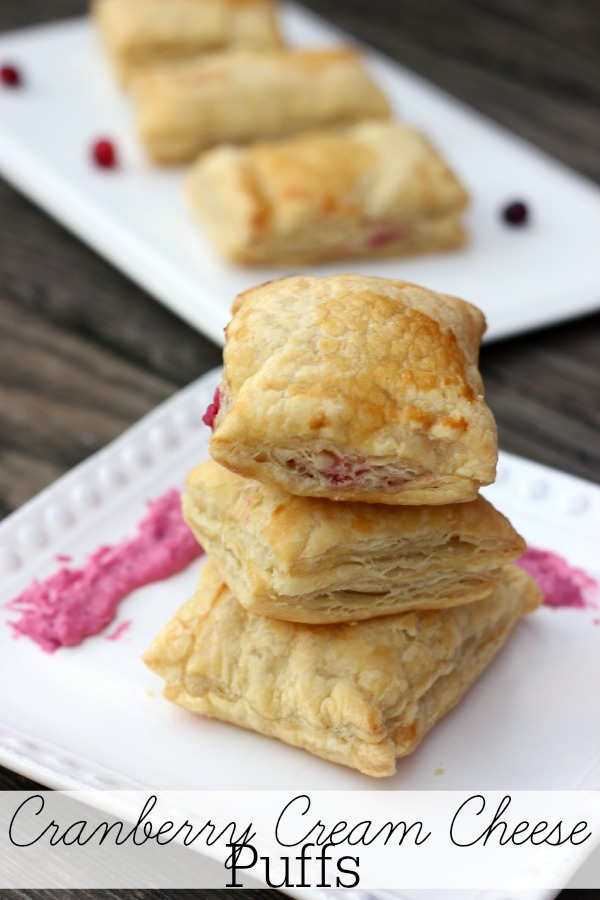 Cranberry Cream Cheese Pastry Puffs