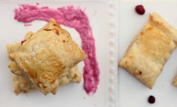 Cranberry cream cheese puffs