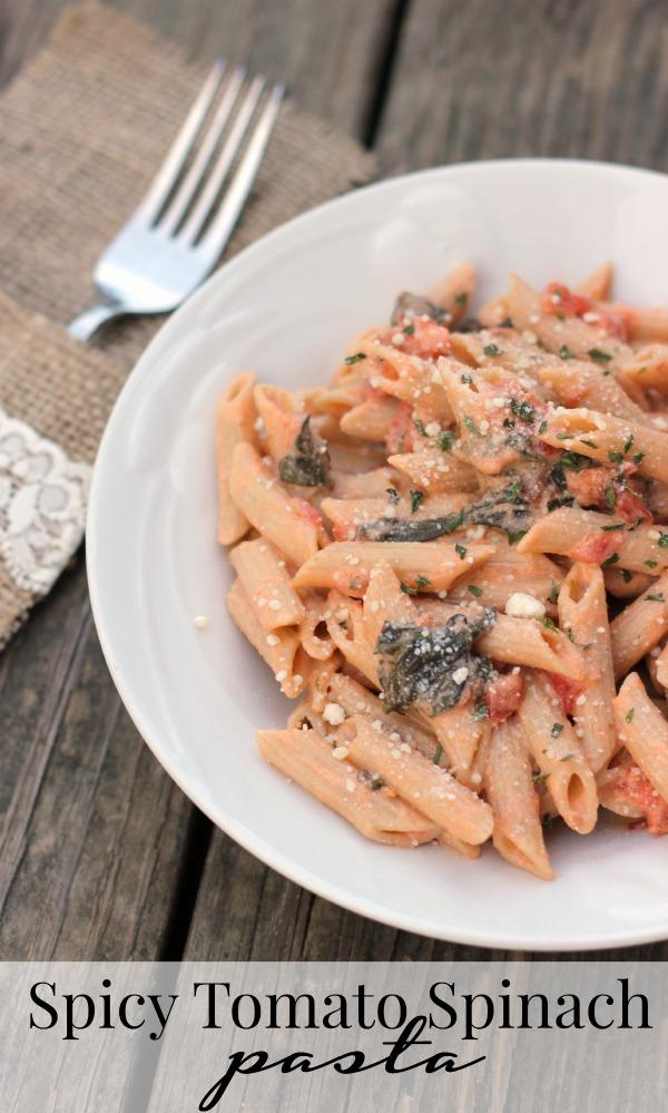Spicy Tomato Spinach Pasta