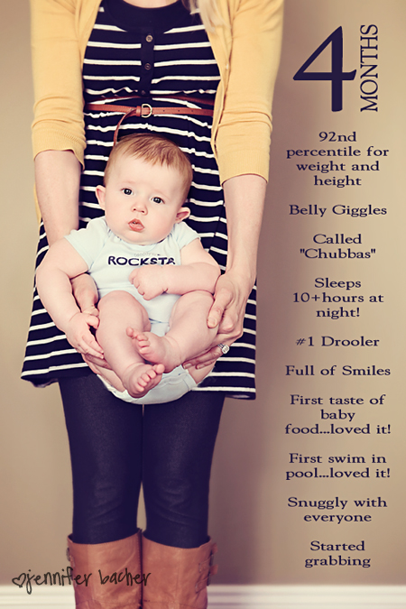 ideas for taking monthly pictures of baby - Documenting Your Baby s Milestones Little Us