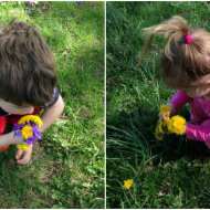 April 13th Picking Flowers