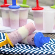 Red, White and Blueberry Yogurt Pops