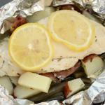 Lemon Chicken Foil Packet Campfire Meal