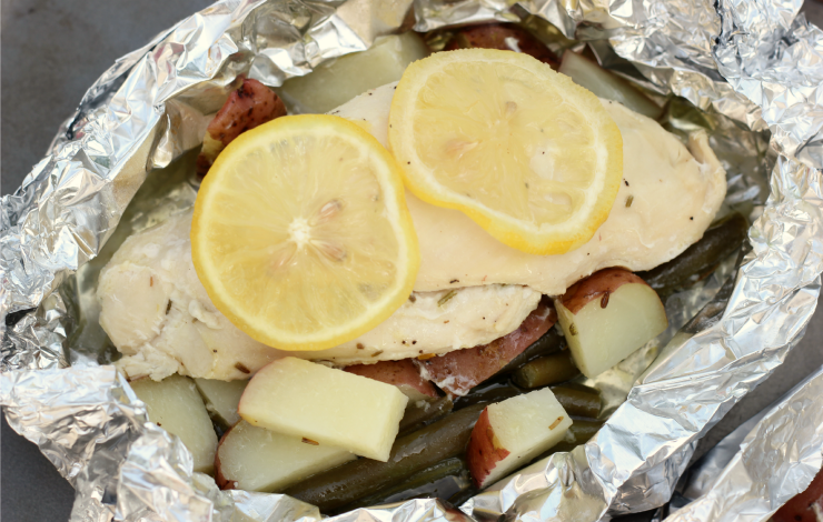 Lemon chicken foil packets 1