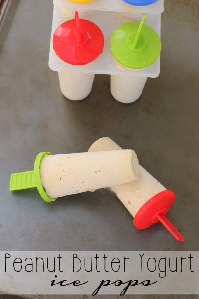 Peanut Butter Yogurt Ice Pops