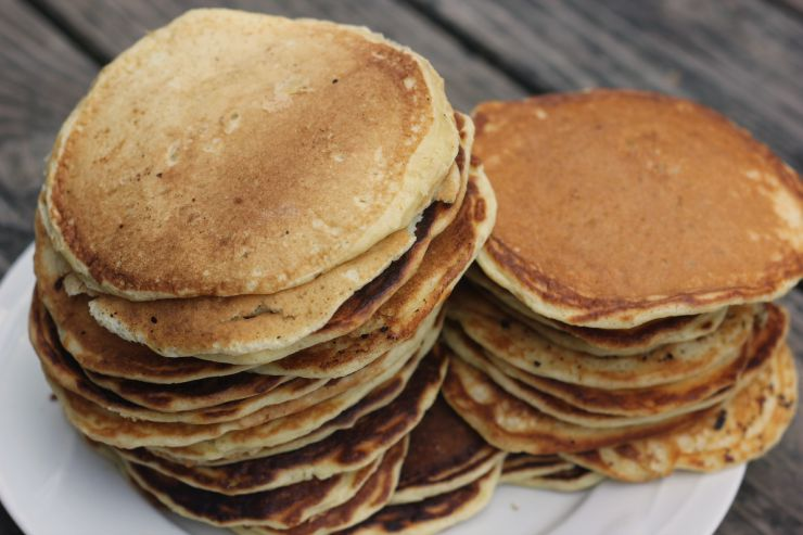stacked pancakes