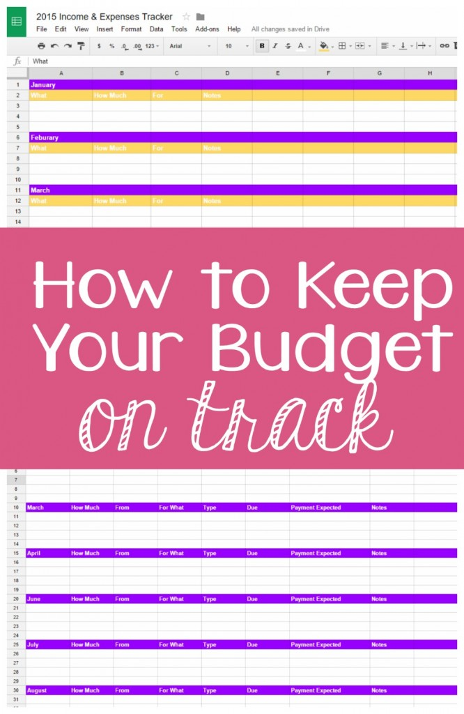 How to keep your budget on track