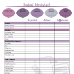 Printable Budget Worksheet