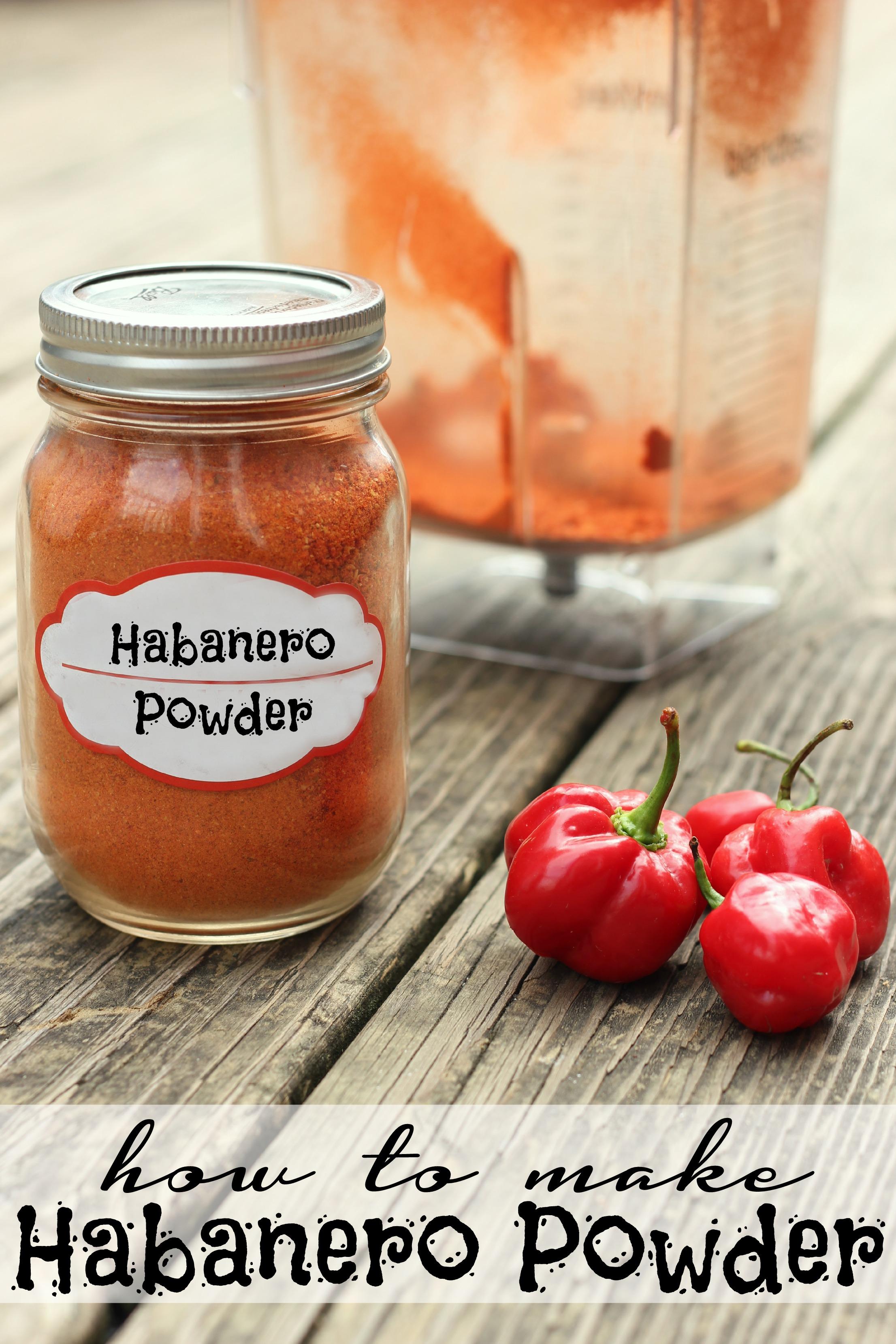 how to make habanero powder