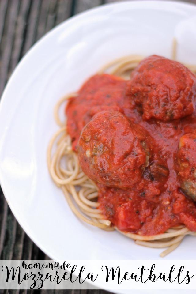 homemade mozzarella meatballs