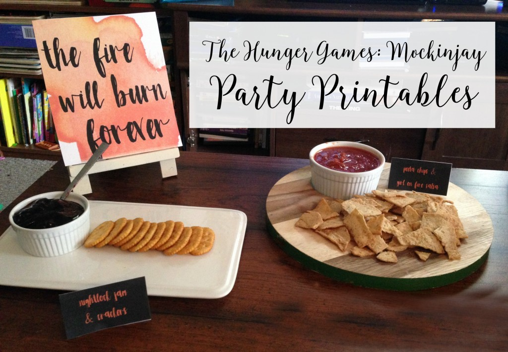 mockingjay party printables