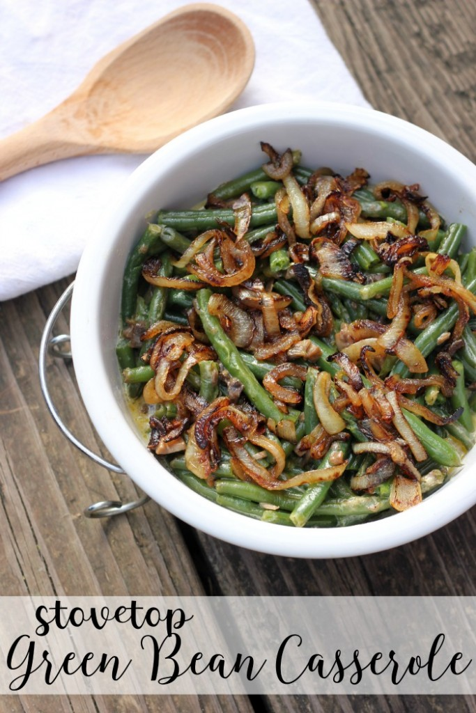 stovetop green bean casserole for thanksgiving