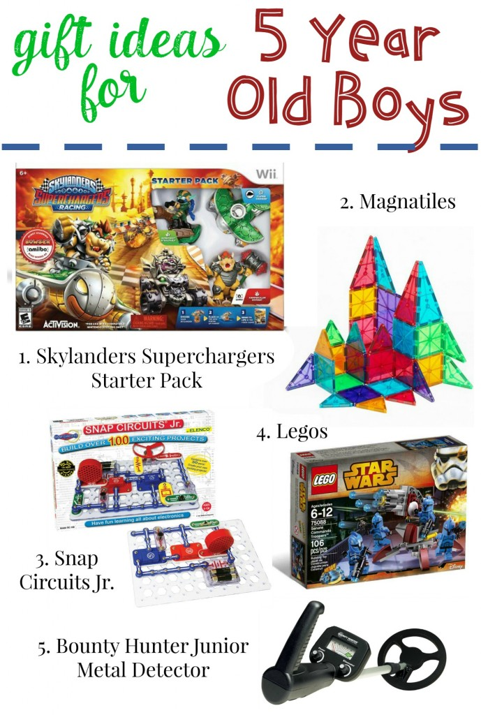 gift ideas for 5 year old boys