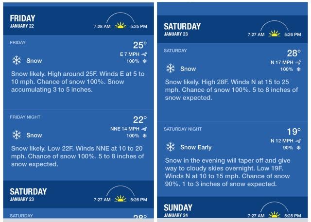 Blizzard 2016 Forecast